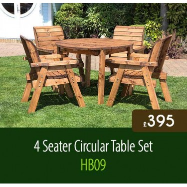4 Seater Circular Table Set HB09