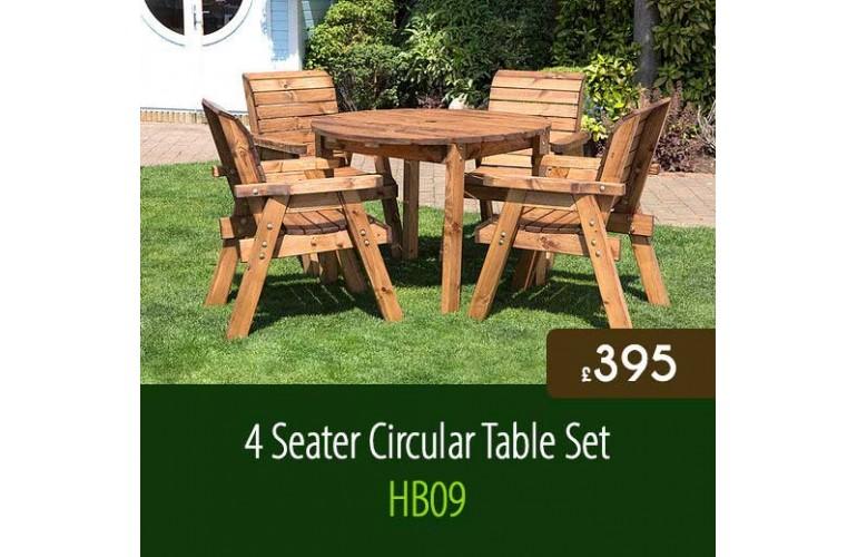 4 Seater Circular Table Set HB09