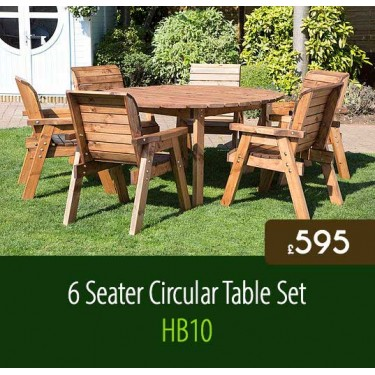 6 Seater Circular Table Set HB10
