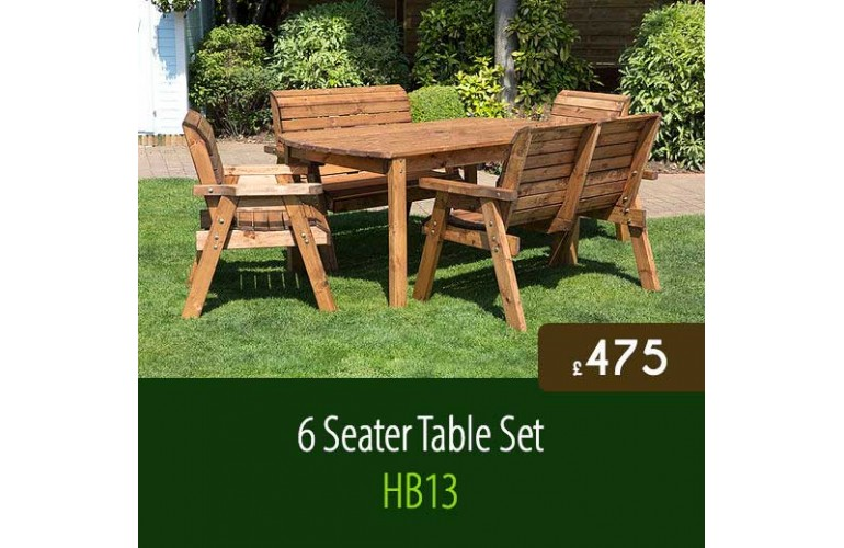 Traditional 6 Seater Table Set HB13