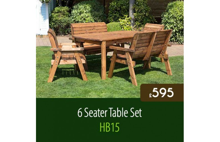 Classic 6 Seater Table Set HB15
