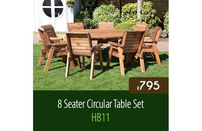 8 Seater Circular Table Set HB11