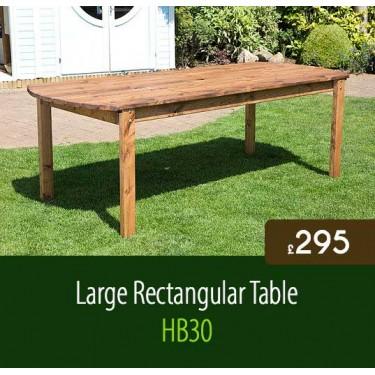 Large Rectangular Garden Table HB30