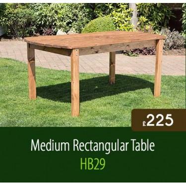 Medium Rectangular Garden Table HB29
