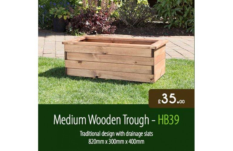 Medium Wooden Trough HB39