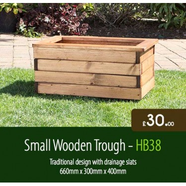 Small Wooden Trough HB38