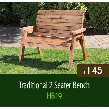 Traditional 2 Seater Bench HB19