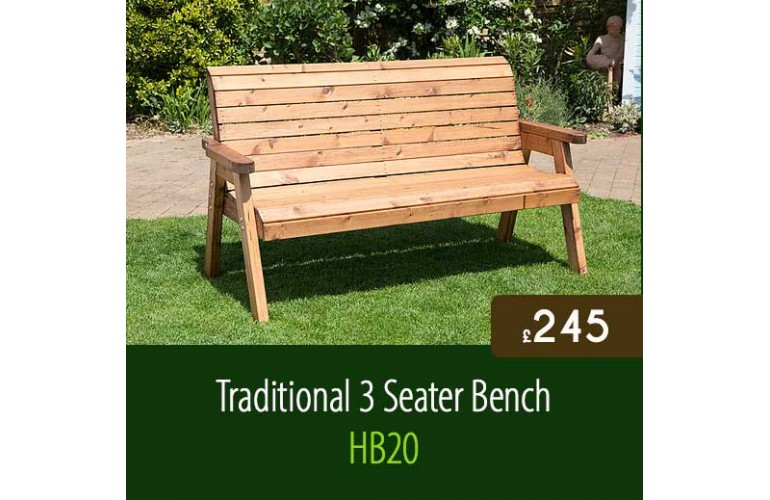 Traditional 3 Seater Bench HB20