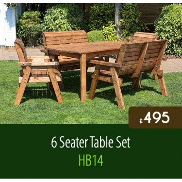 Traditional 6 Seater Table Set HB14